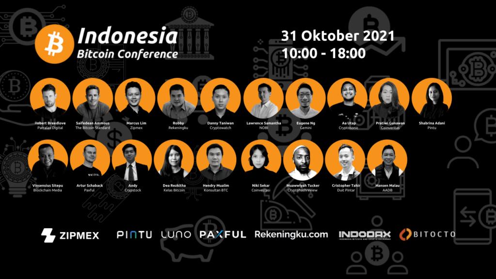 Konferensi Virtual Khusus Bitcoin Pertama di Indonesia akan diselenggarakan di bulan Oktober